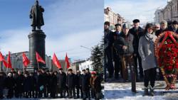 У памятника Ленину во Владикавказе появились живые цветы
