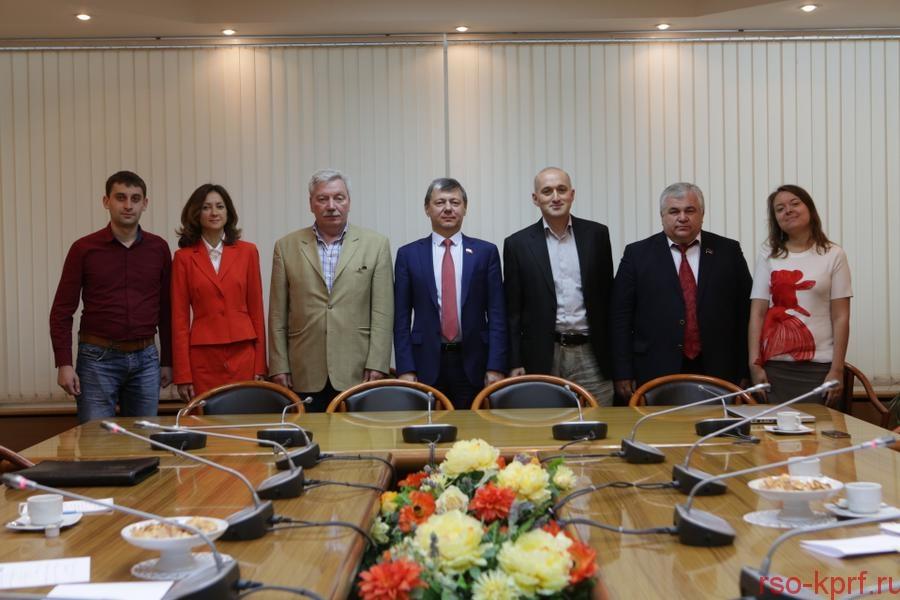 Д.Г. Новиков и К.К. Тайсаев провели встречу с лидерами Народного Движения «Социалистическая Грузия»