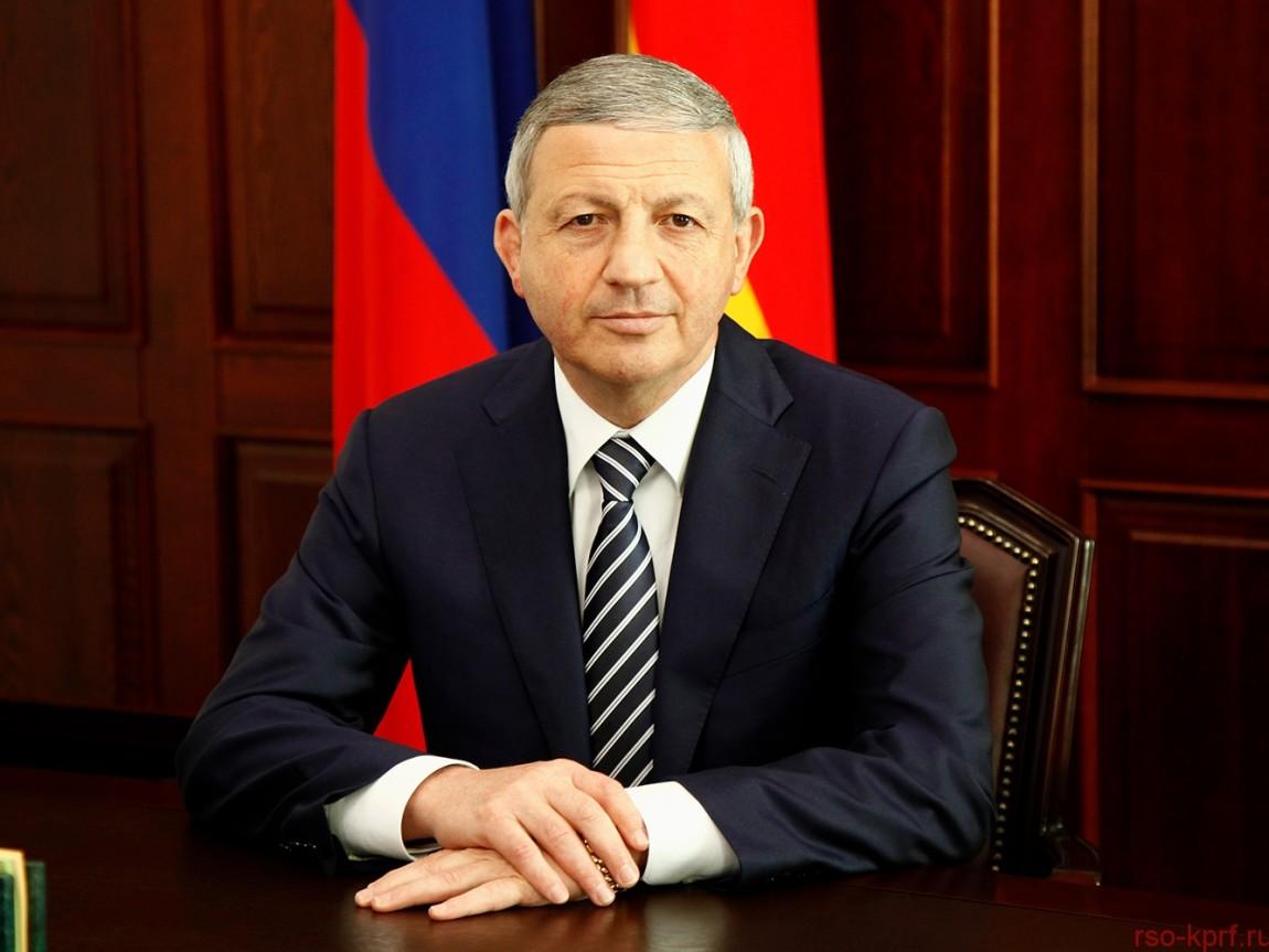 Поздравление Битарова В.З. с вступлением в должность Главы РСО-Алания