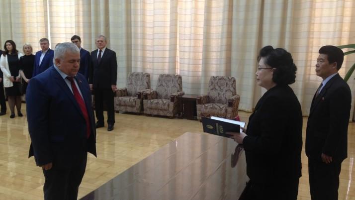 В Пхеньяне Казбеку Тайсаеву вручена одна из самых высоких государственных наград КНДР – «Орден Дружбы»