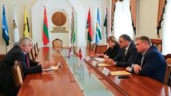 К.К. Тайсаев встретился с Главой приднестровского парламента Александром Щерба